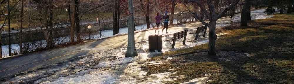 Runners along the Canal, The Glebe, Ottawa, Ontario